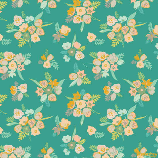 an alternative colour-way using a bright jade background.