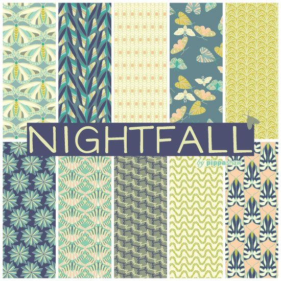 "the full set of patterns from the ""Nightfall"" collection"