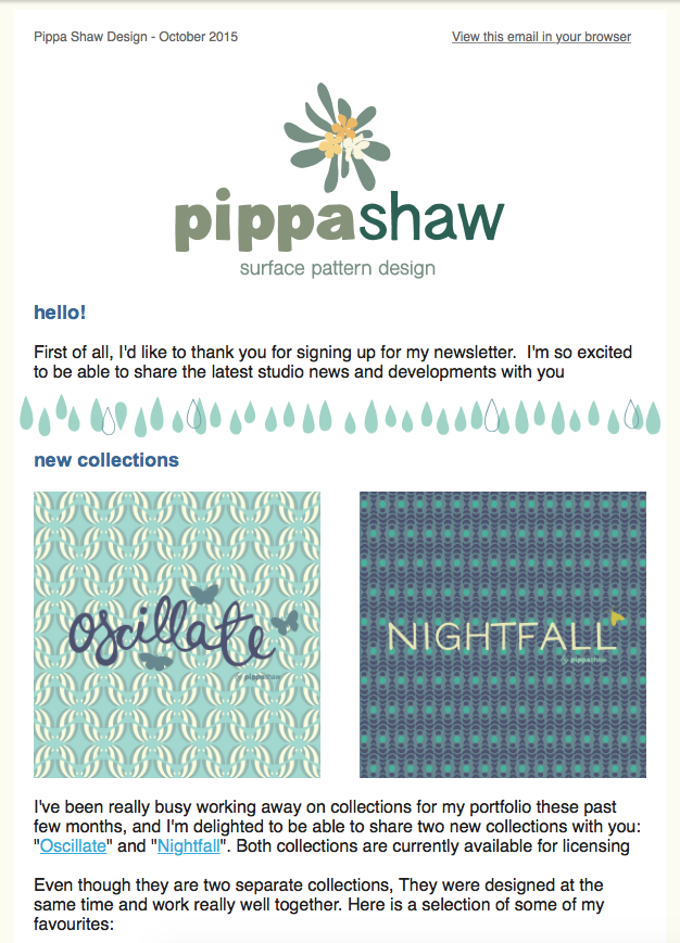 Pippa Shaw October newsletter