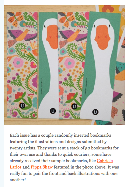an extract from yesterday's UPPERCASE newsletter