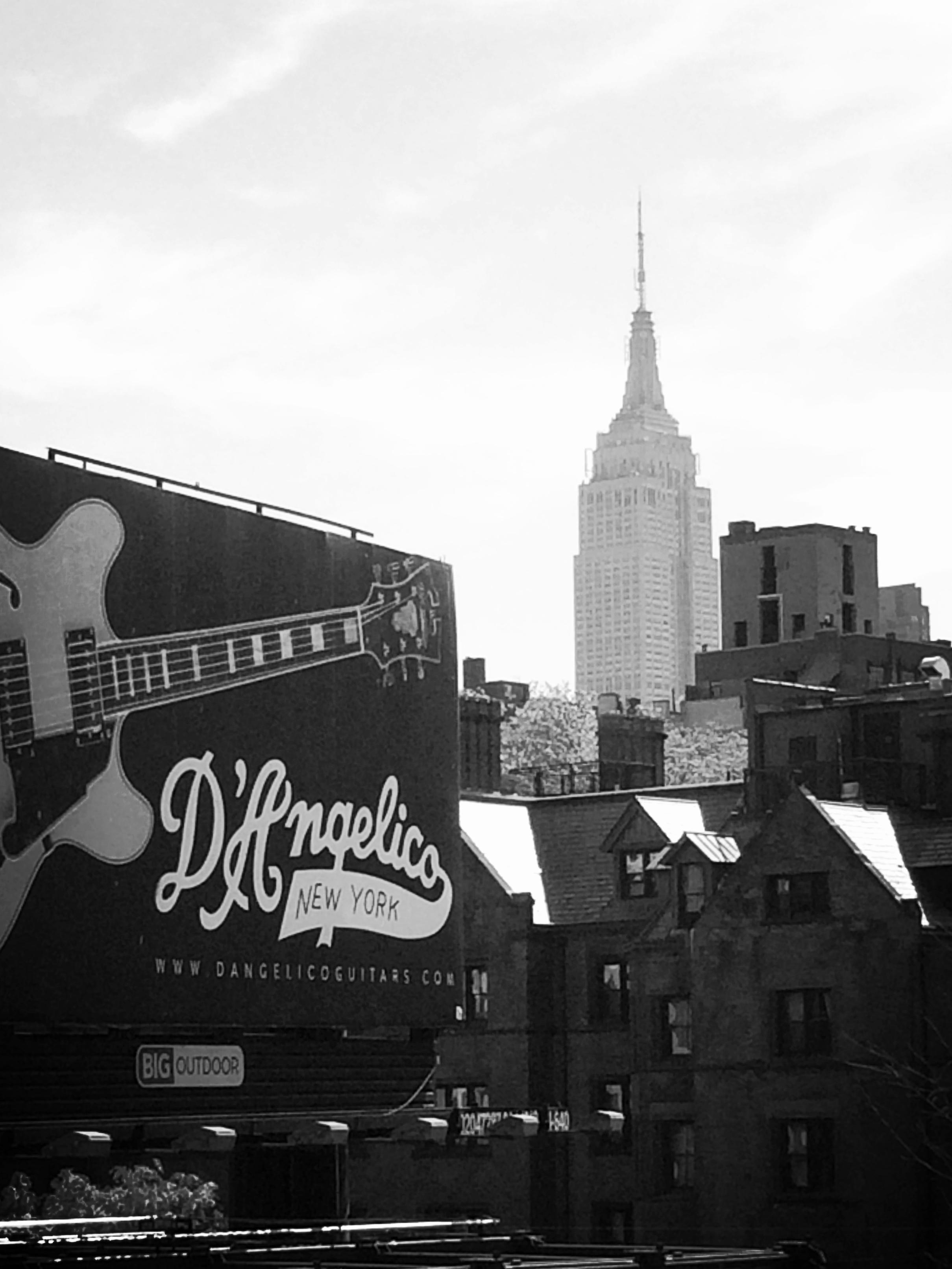 an iconic New York skyline viewed from the highline