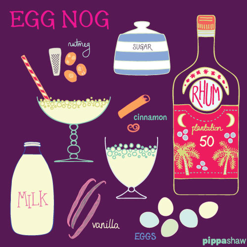 "Egg Nog illustrated recipe for ""Christmas Cocktail"""