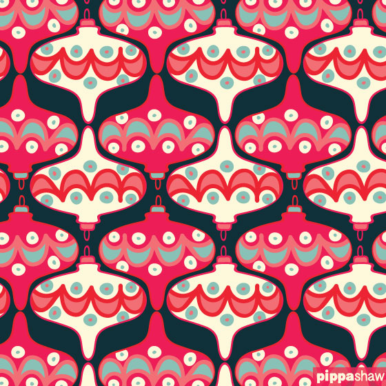 Christmas decorations repeat pattern
