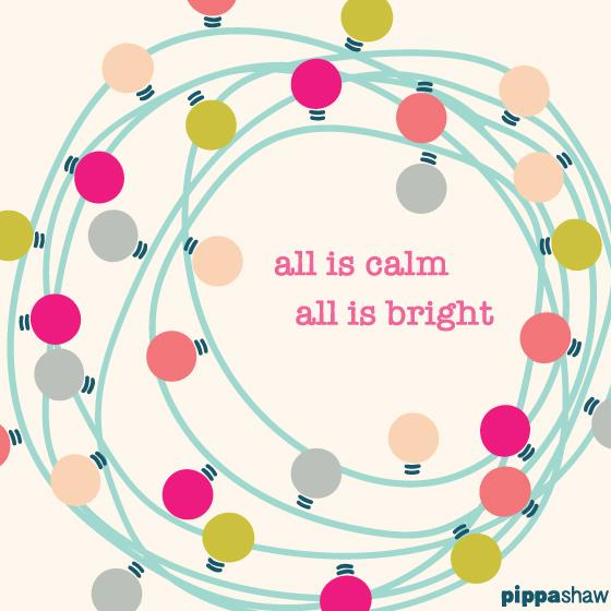 Christmas lights greetings card
