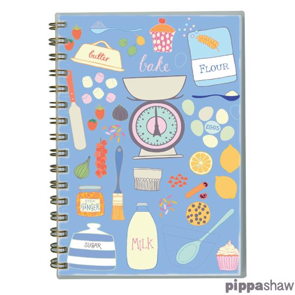 Pippa Shaw Padblocks Blue Baking A5 wirobound notebook.jpg