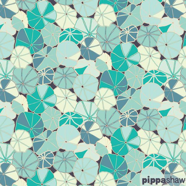 'Capucine leaves' repeat pattern