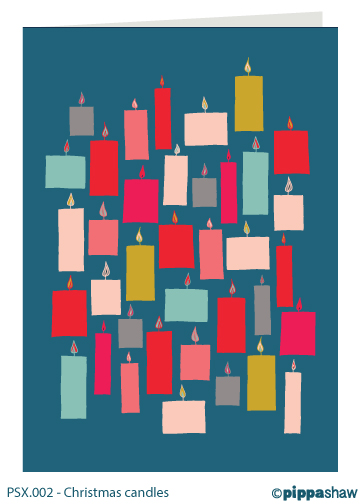 Christmas candles Christmas card by Pippa Shaw