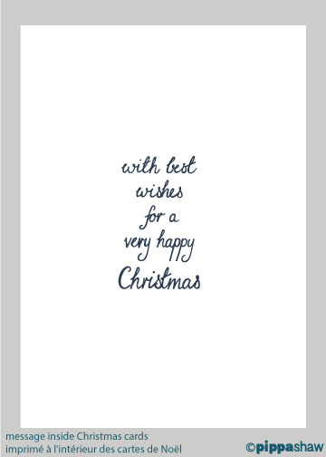 printed message inside Christmas cards by Pippa Shaw
