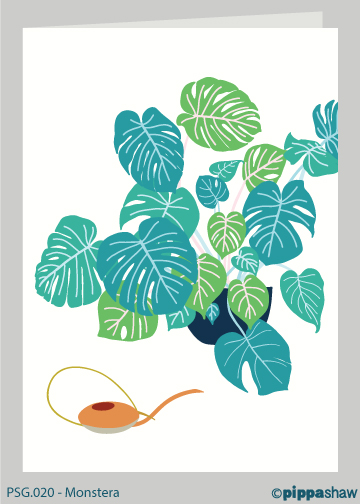 Monstera Greetings Card by Pippa Shaw