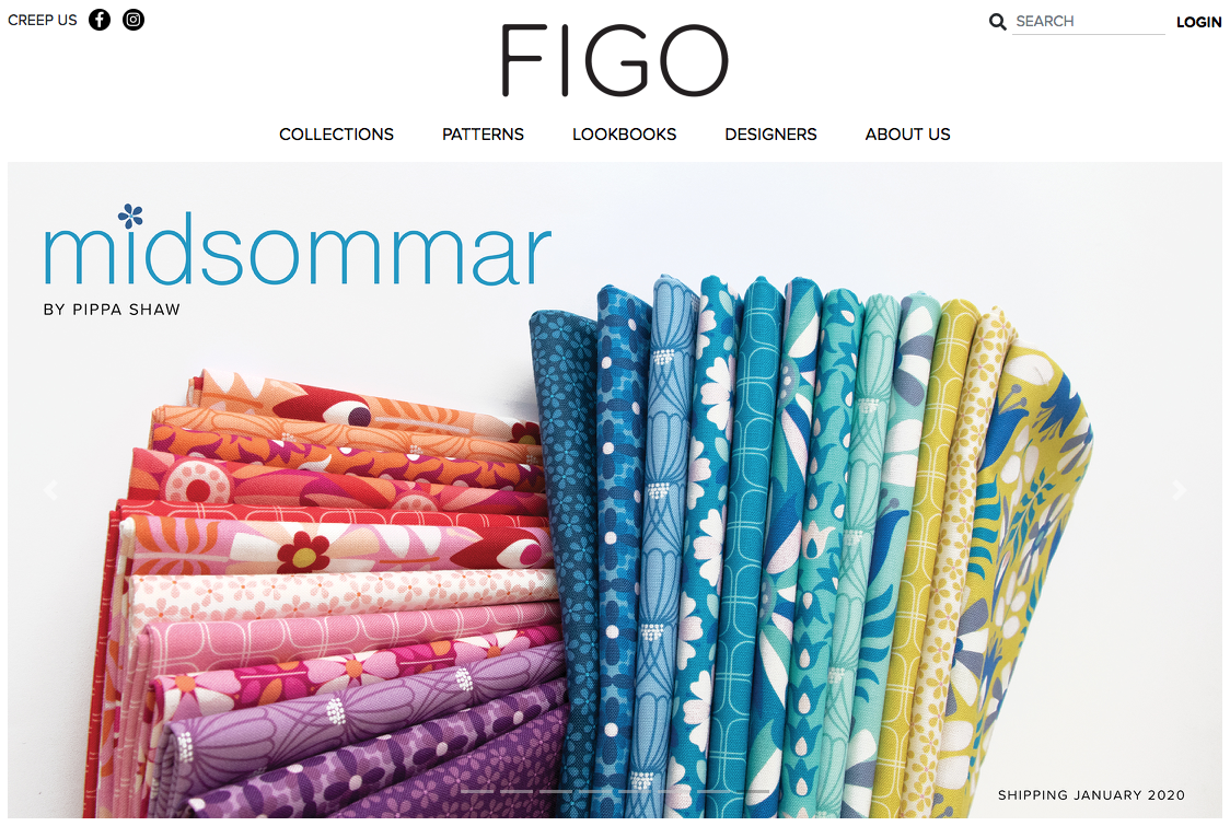 midsommar fabric collection Pippa Shaw x FIGO