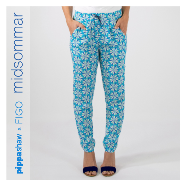 Alexandria Peg Trousers pattern by Named Clothing  (made using beautiful rayon fabric from the collection)