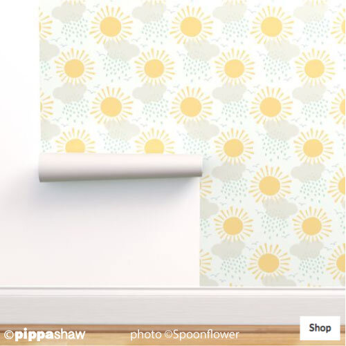 Sunshine after the rain wallpaper medium scale by Pippa Shaw