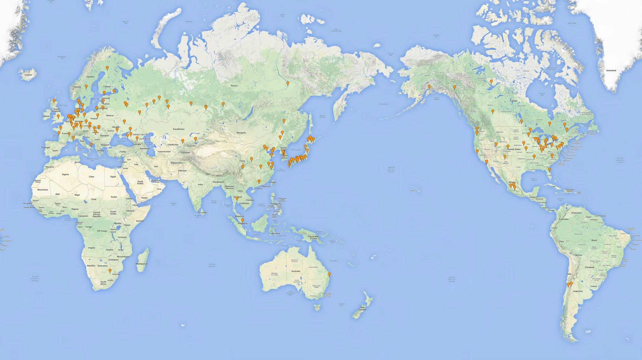 白熊圈養機構位置圖 (2014, 7月)