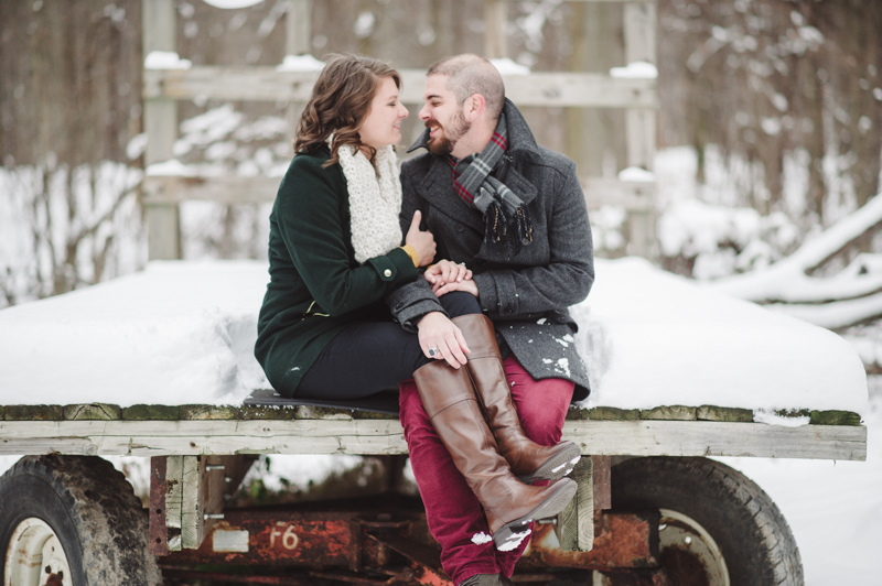 Engagement Session Cleveland in Snow