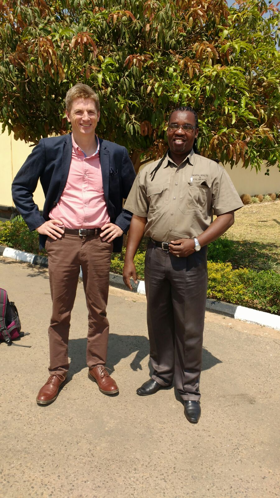With Mr Hinson Siabwata at Chainama College of Health Sciences