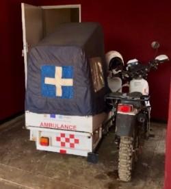 Chikupi's RHC's motorbike ambulance