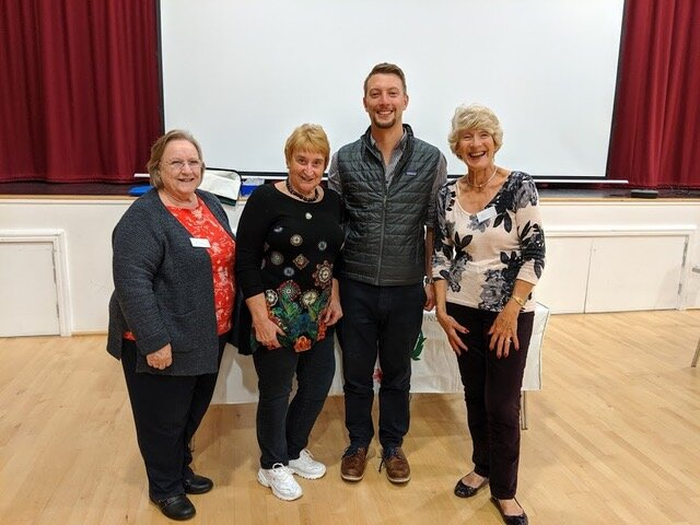 Dr Grace pictured here with members of the Crowborough Townswomens Guild after giving a well received and informative talk about the work of the Virtual Doctors
