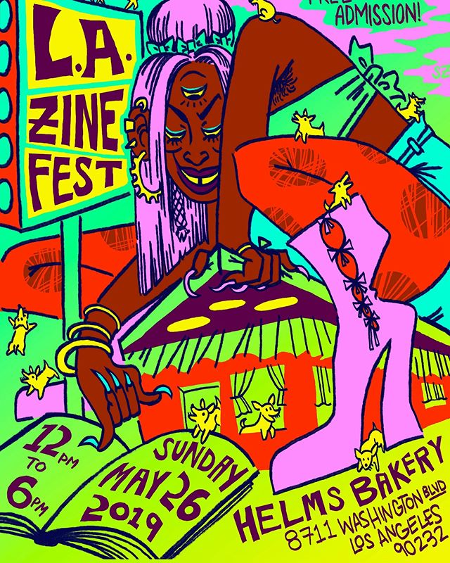 We're going to be tabling @lazinefest this Sunday! Come say hi and grab some zines and shoot the shit. First zinefest for us in a while. We're stoked. LAZF is one of our favorite shows.