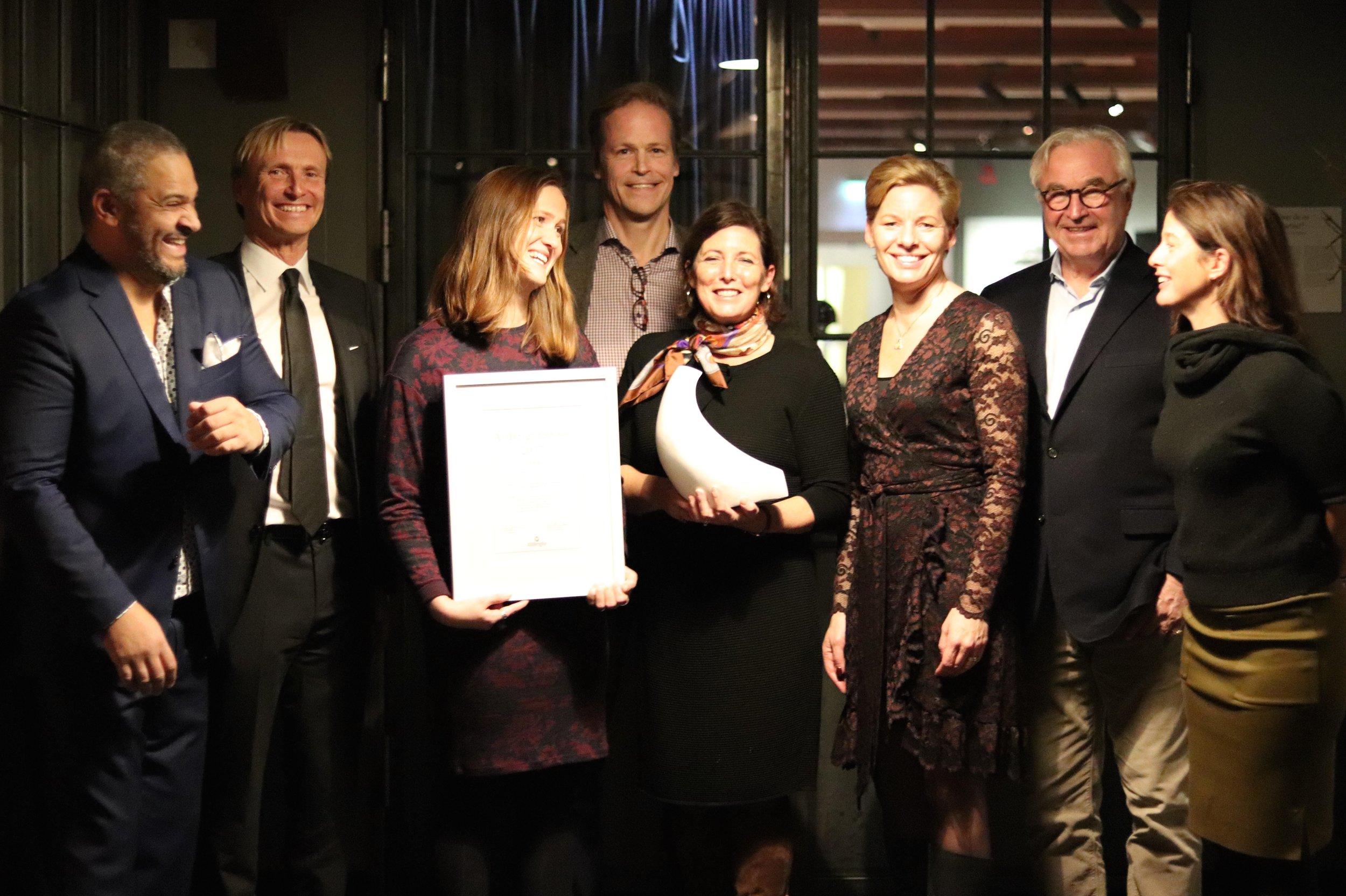 Från höger: Bengt Johansson, Per Eriksson, Tove Dahlgren, Christian Kinch, Helena Pharmanson, Annica Ånäs, Sven Hagströmer och Michaëla Berglund.