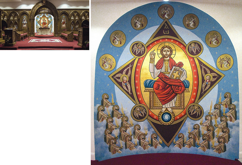 St. Mary and St. Athanasius Copitc Church, Altar