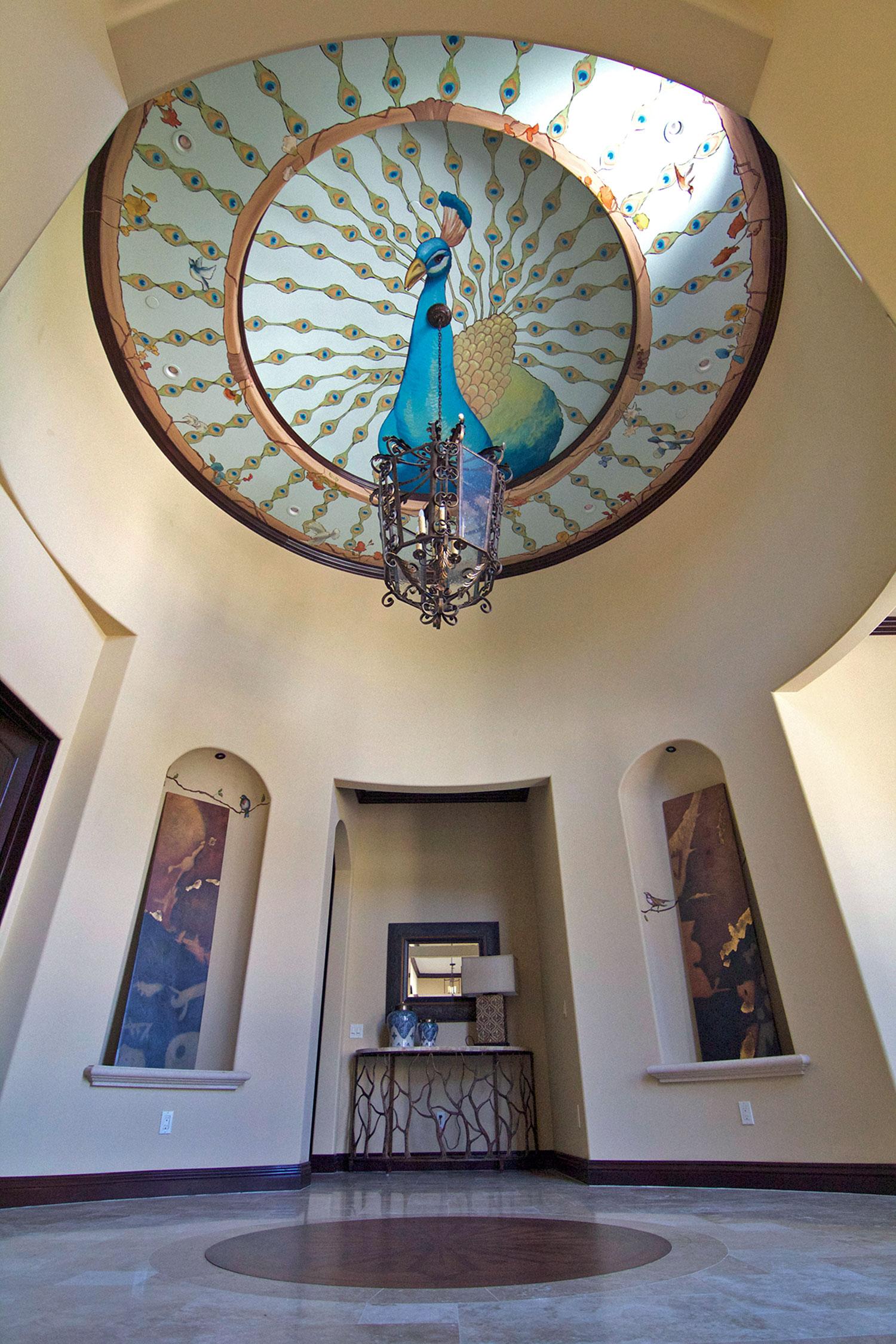 Corridor, Peacock Ceiling