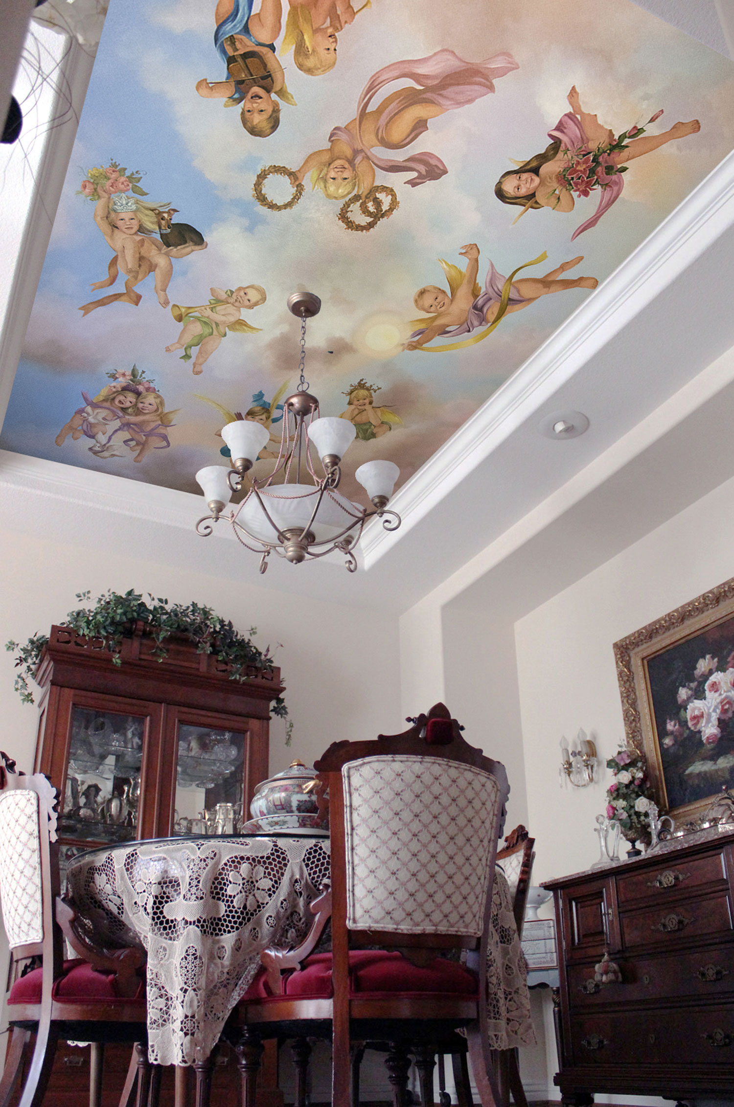 Dining Room, Putti Angeles with Grandkids