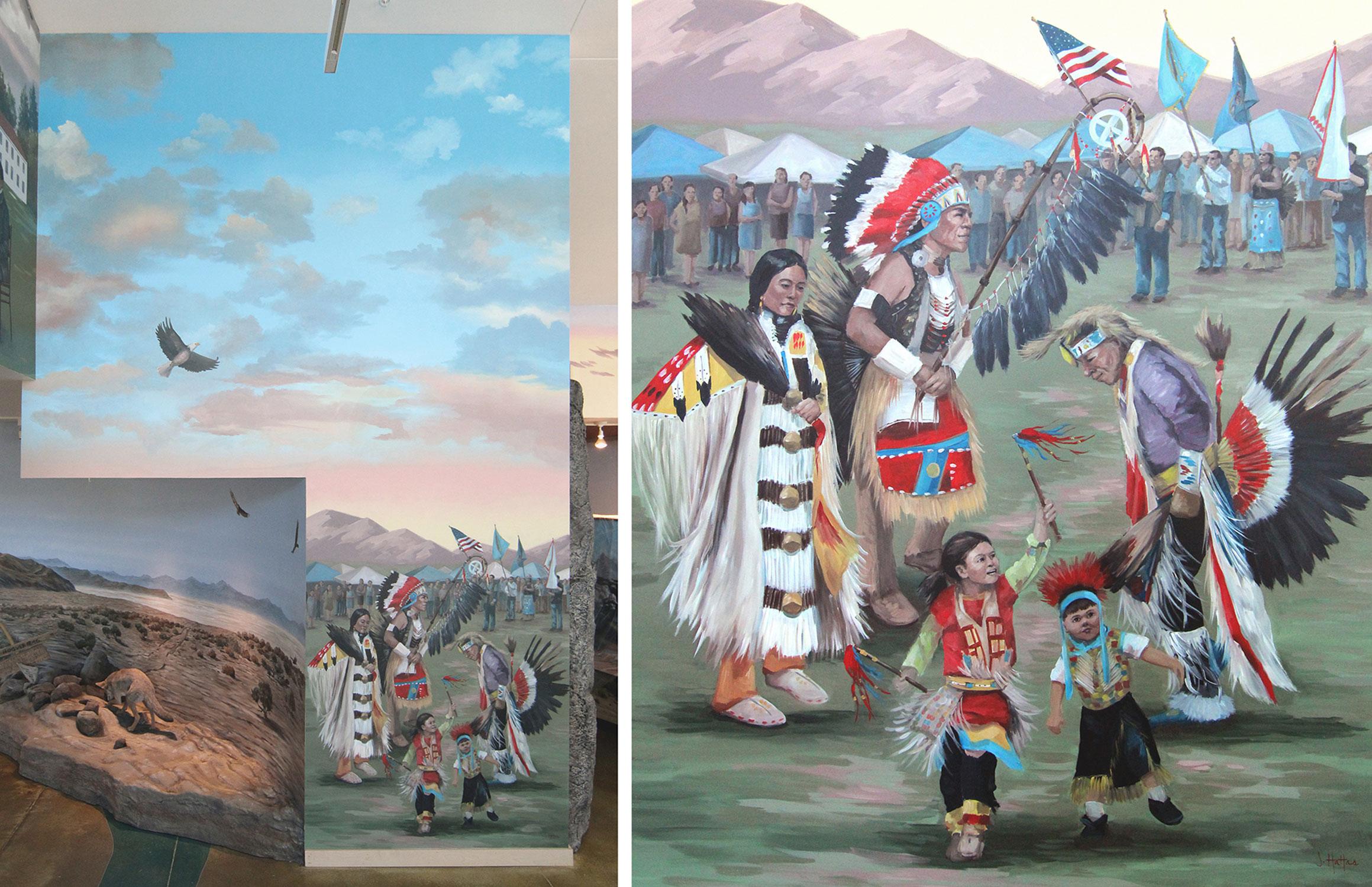 "Mural 5: ""Modern-day Pow-wow"""