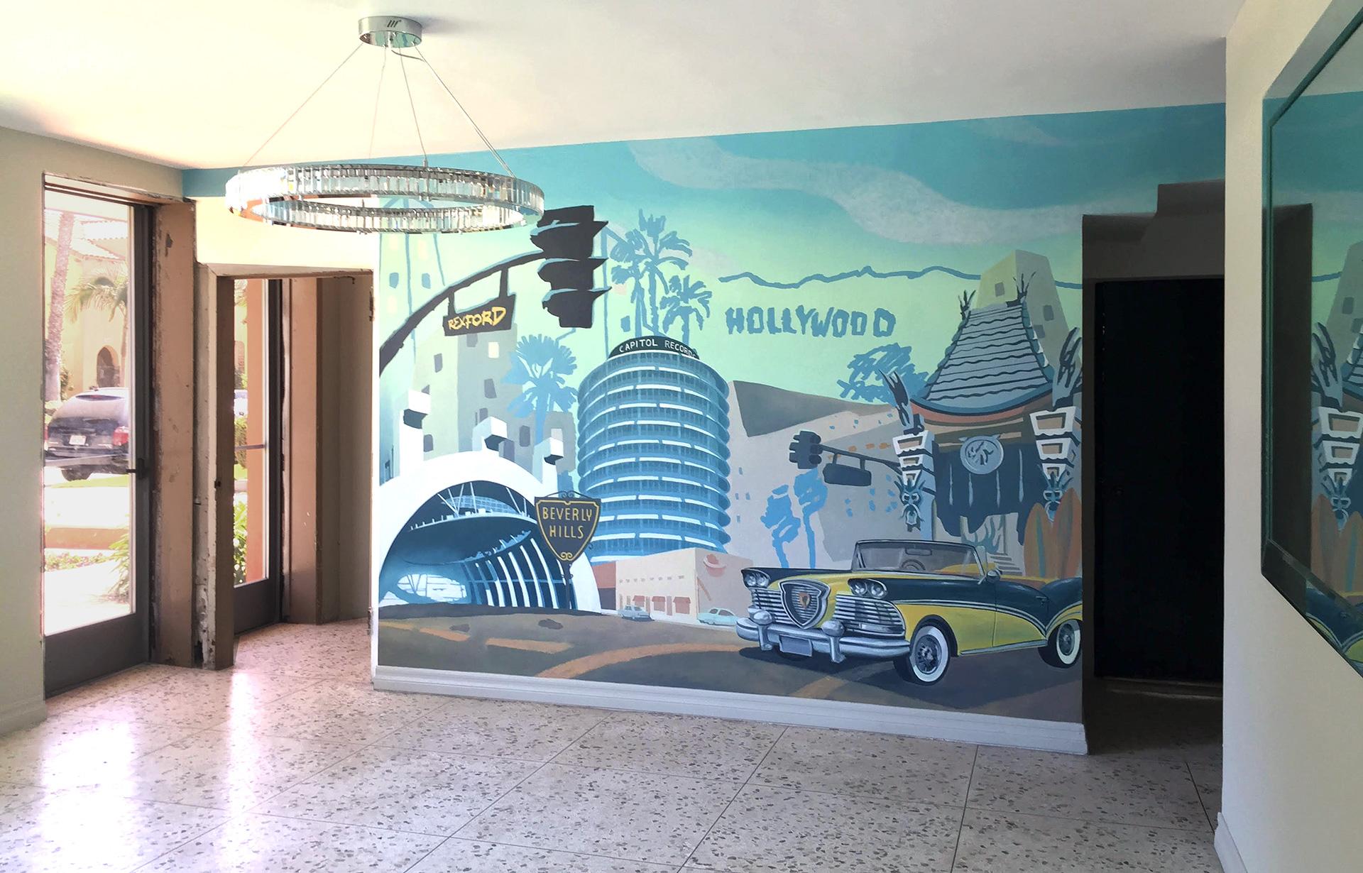 Beverly Hills Apartment Lobby, LA Landmarks