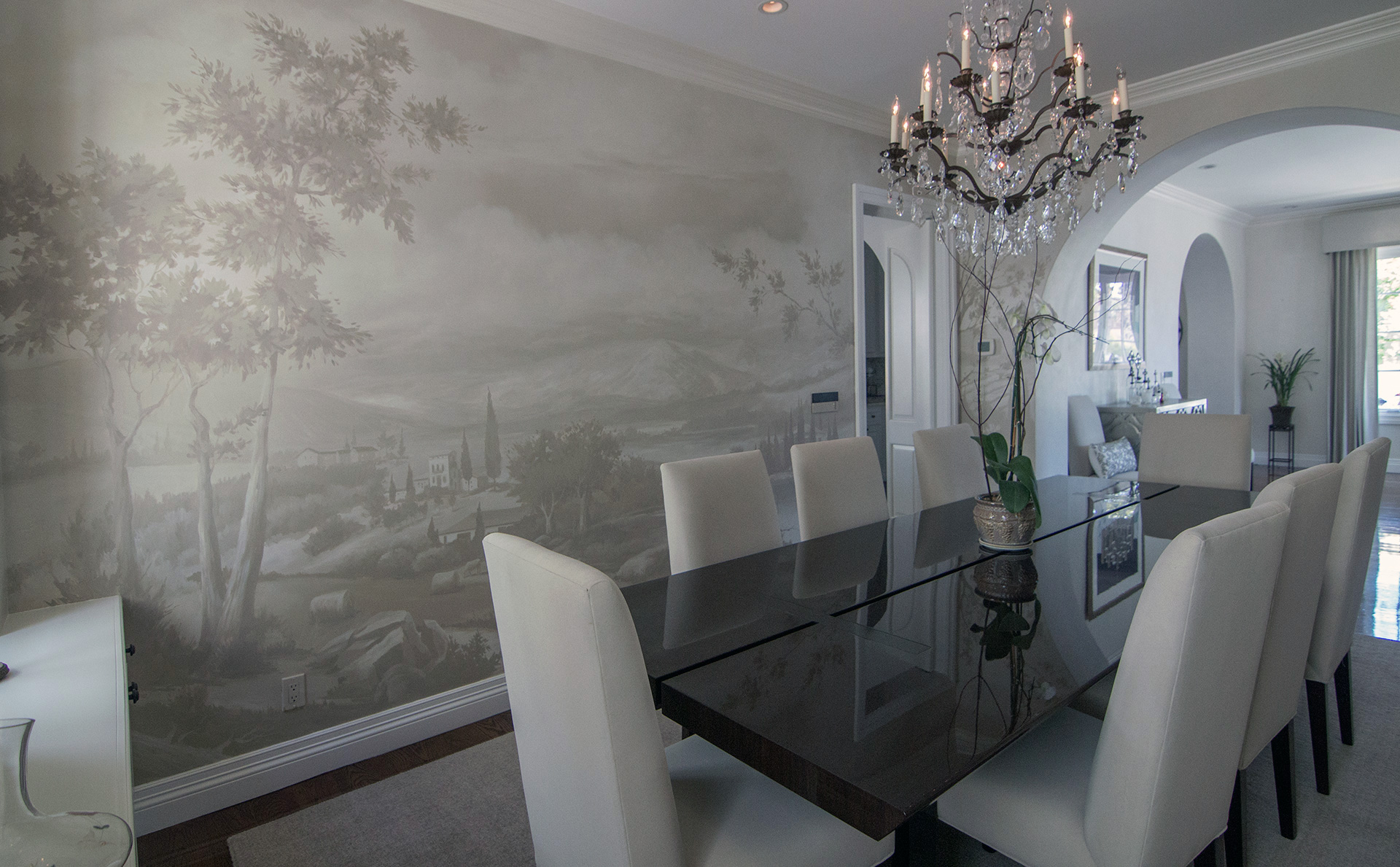 Dining Room, Grisailles Italian Landscape