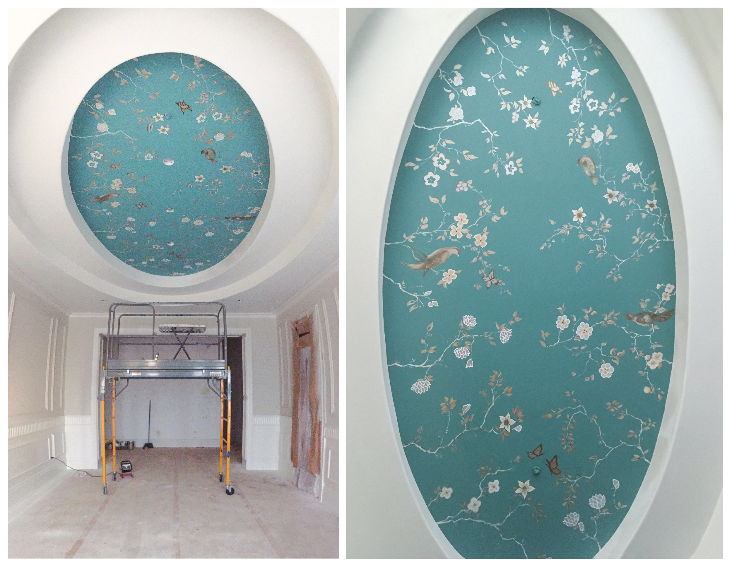 Chinoiserie Ceiling, Dining Room, Arcadia, CA