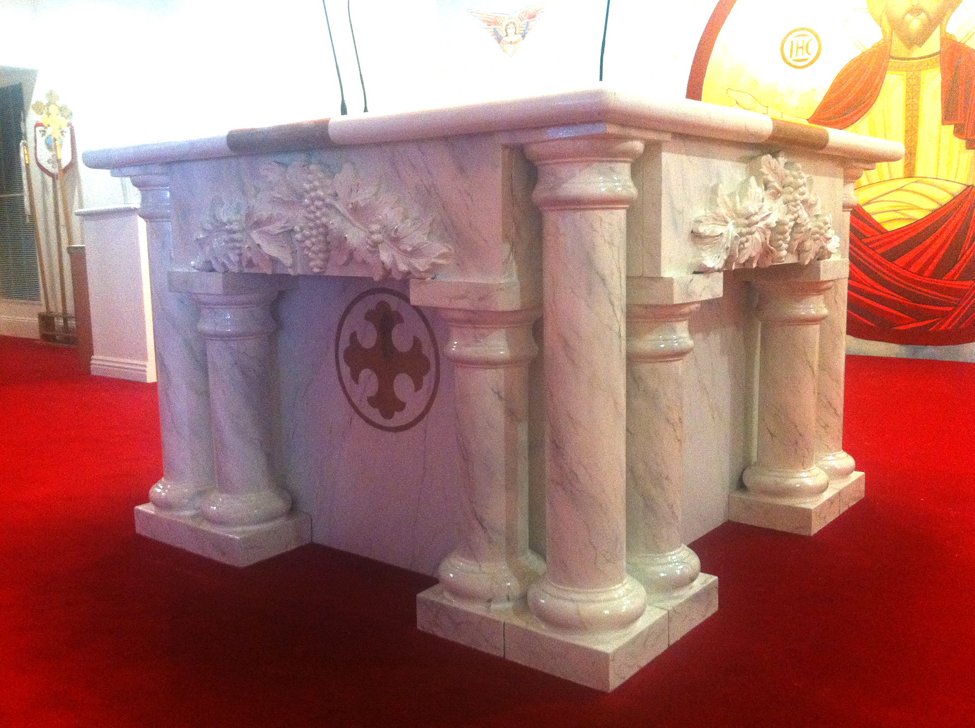 Faux Marble Altar