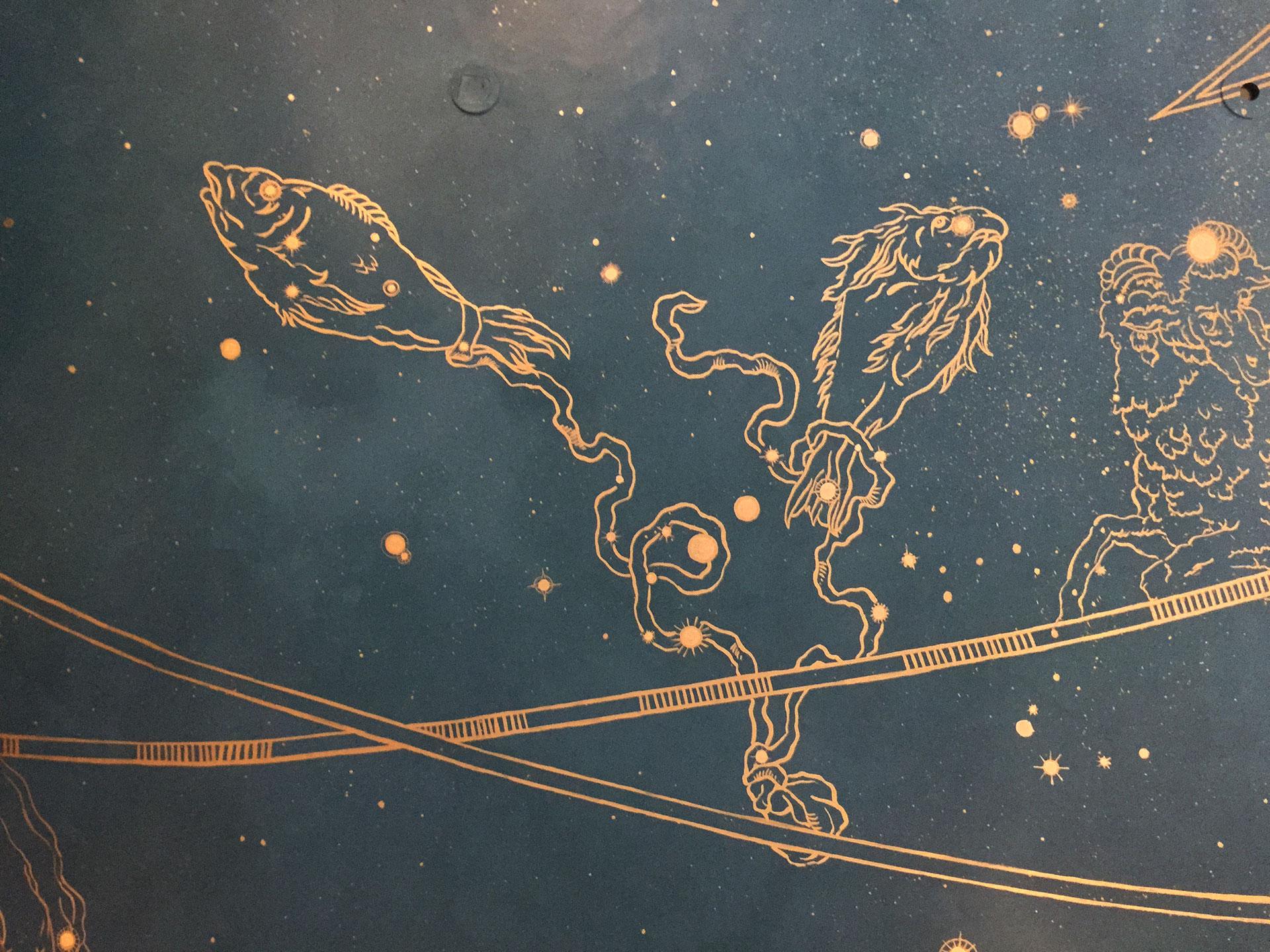 Horoscope Ceiling Closeup