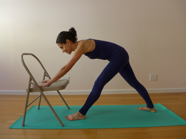 3. PYRAMID POSE ON A CHAIR