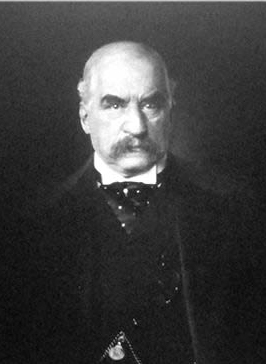 John Pierpont Morgan, NES President 1889-1891, photographed by Edward Steichen in 1903.