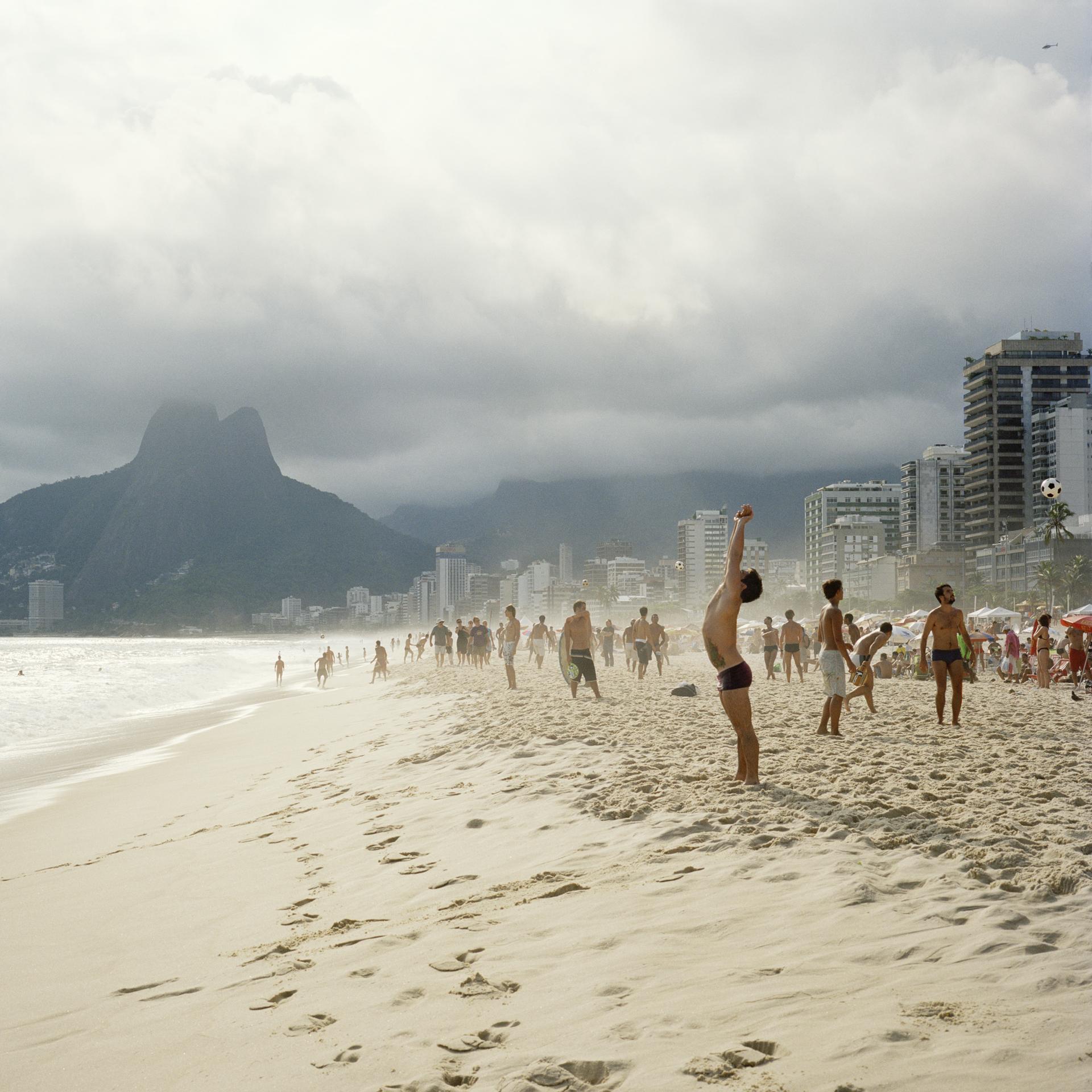 Ipanema Beach. Football.