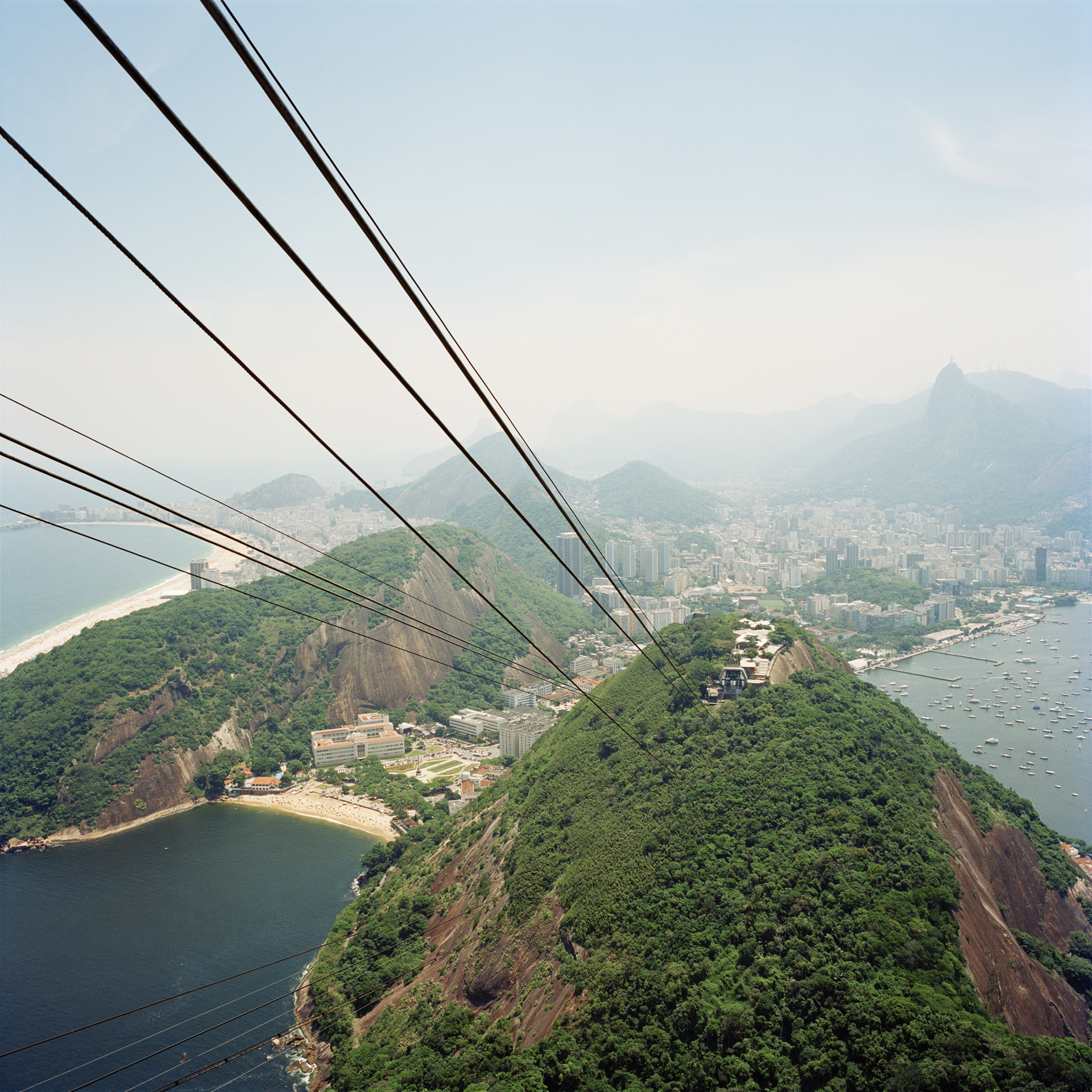 View from the top level of the Sugar Loaf Cable Car Station.