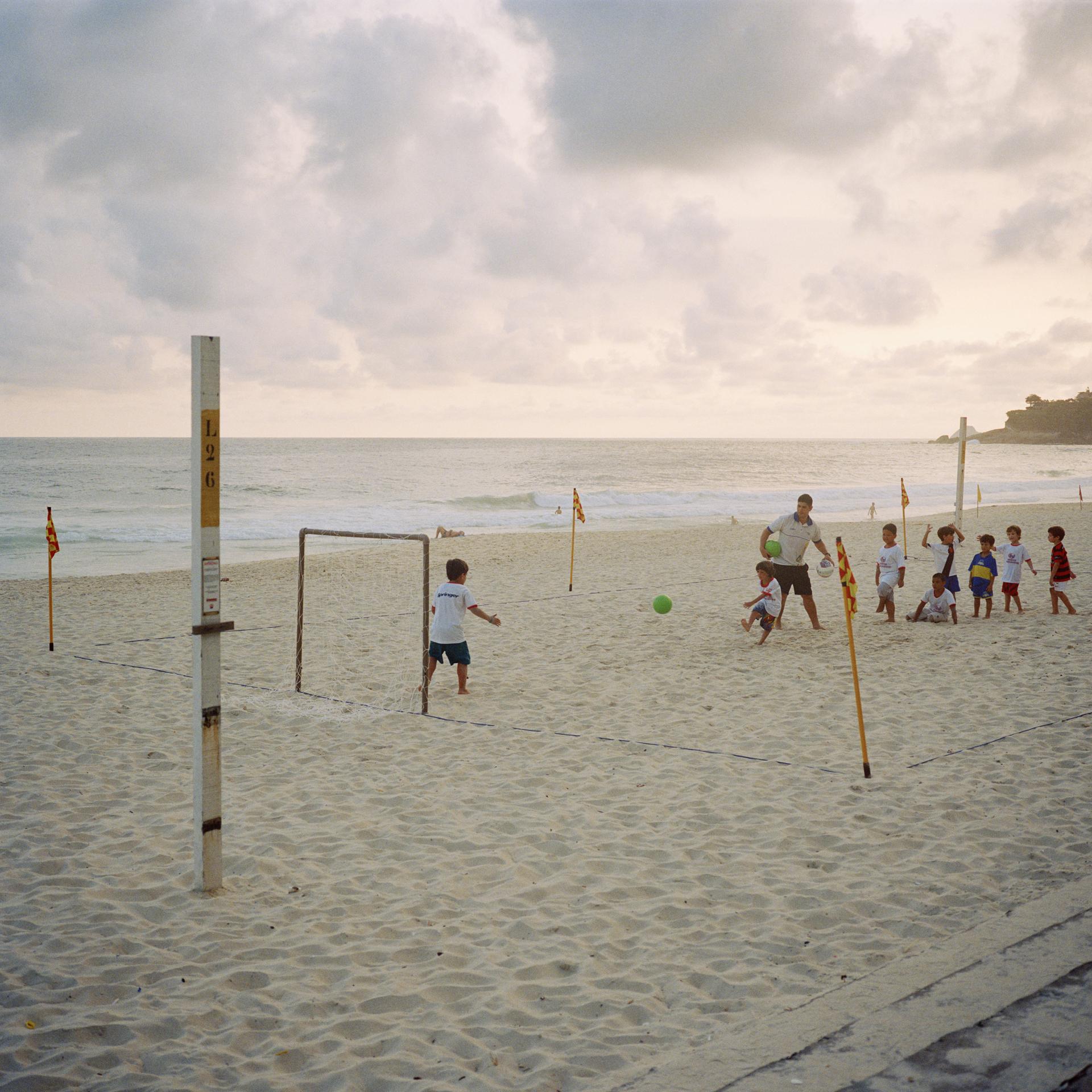 Ipanema Beach. Football practice.