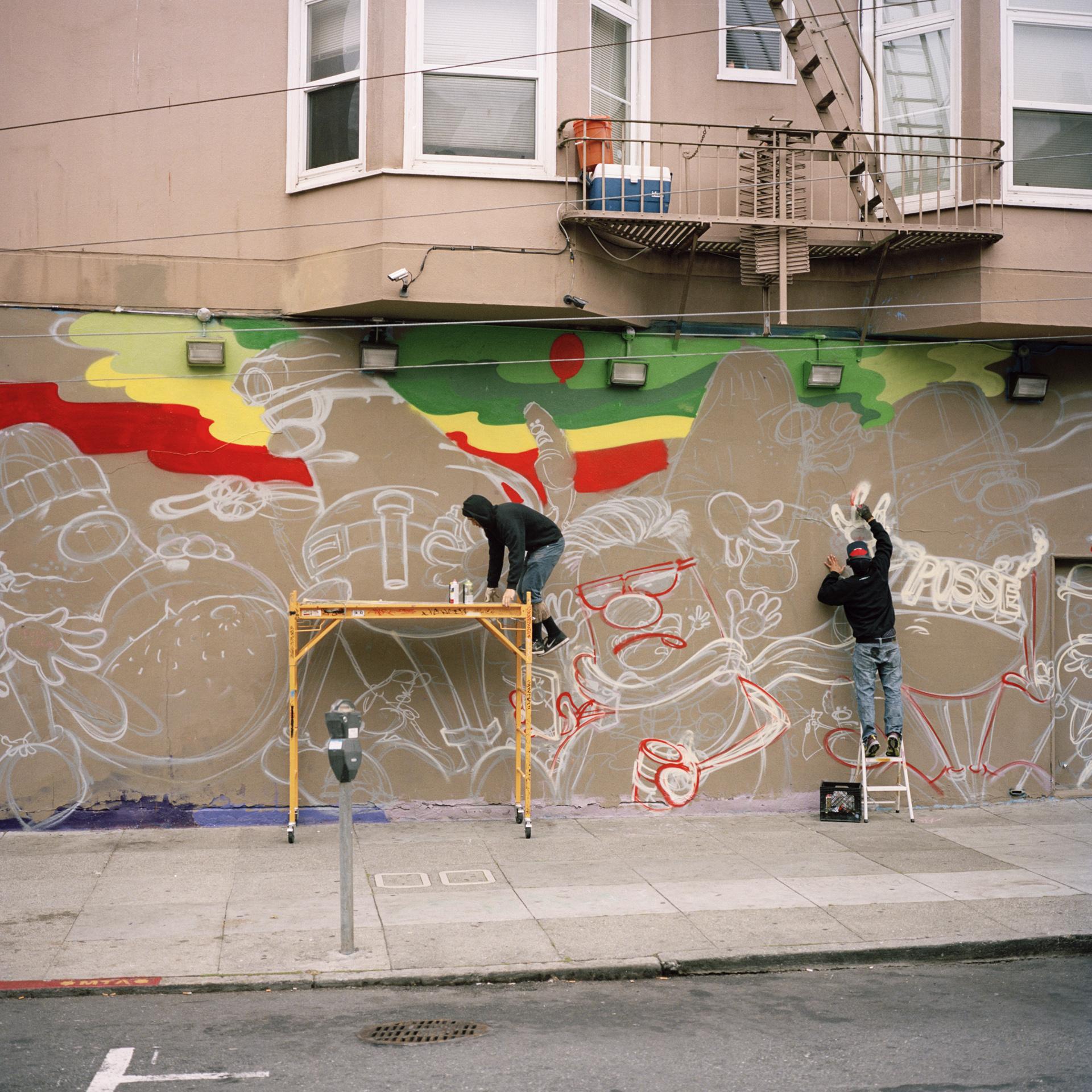 San Francisco. Graffiti near Haight Street.