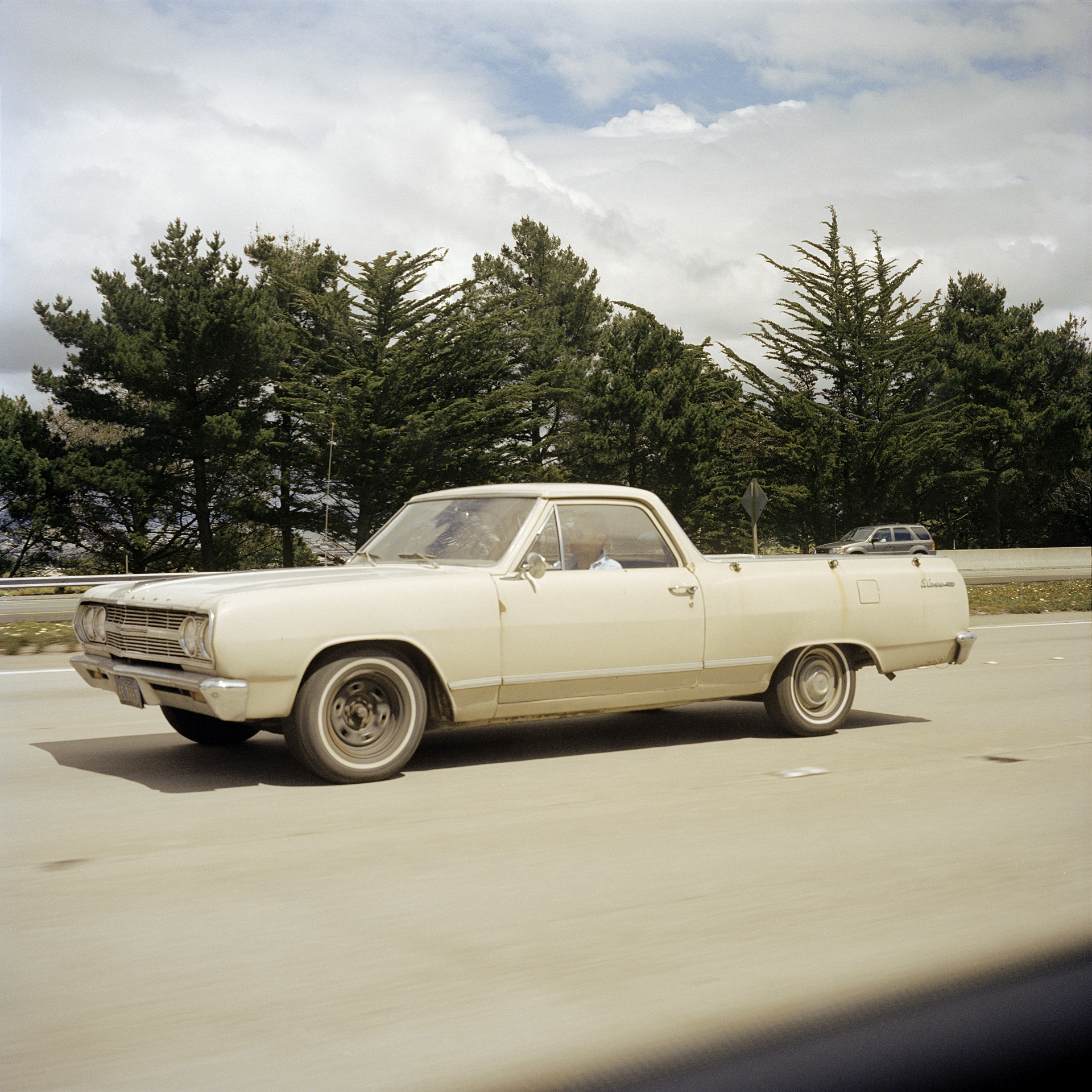 Chevrolet El Camino on I-280.