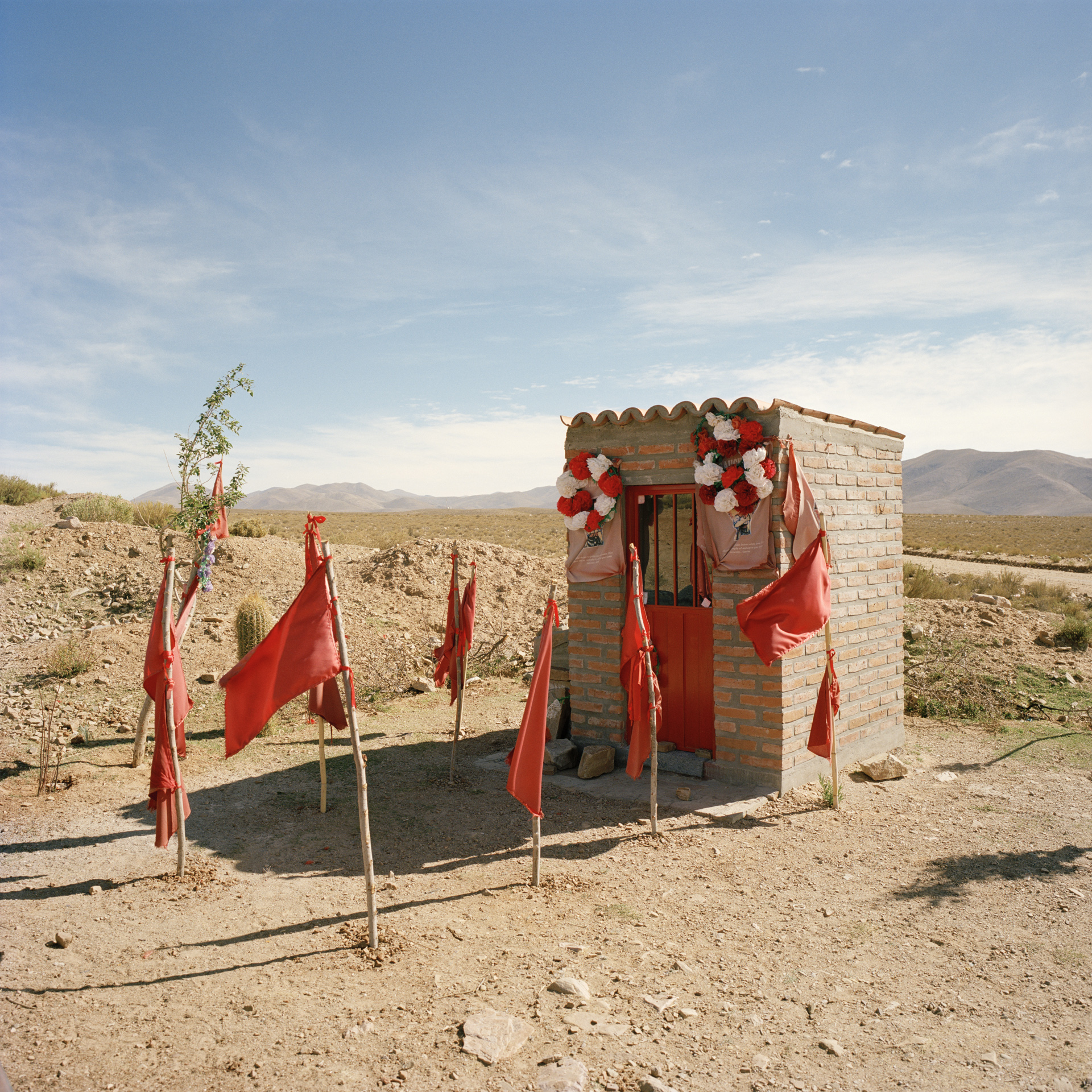 Jujuy Province. Roadside shrine for Gauchito Gil, the famous Argentian outlaw folk hero.