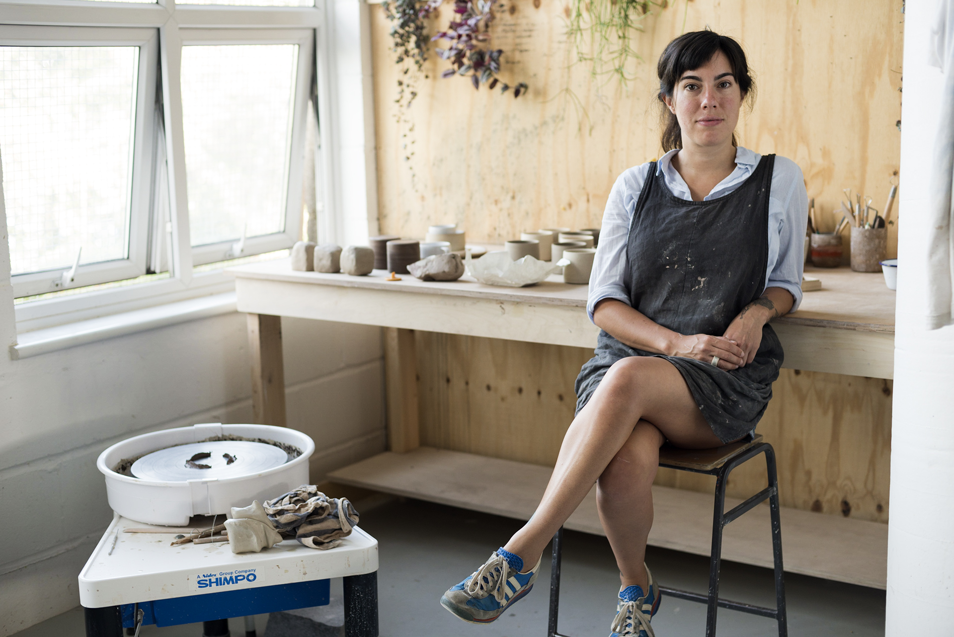 Ceramicist Andrea Roman in her London studio.