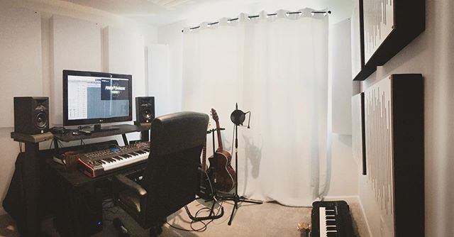 Up in my writing room today, composing for #powerrangers under the direction of the amazing @noam_kaniel ⚡️⚡️⚡️