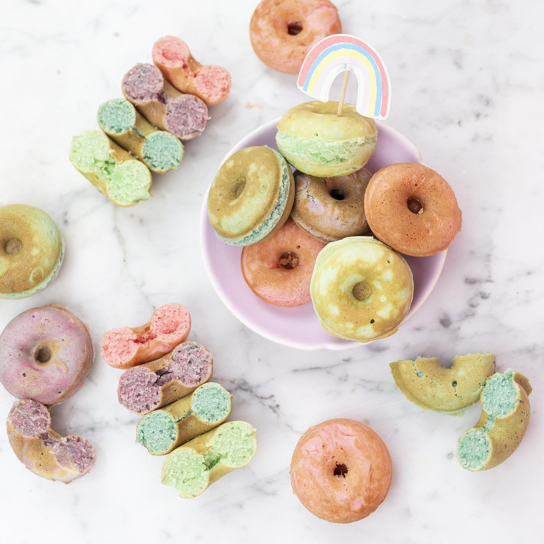 Rainbow Mini Donuts
