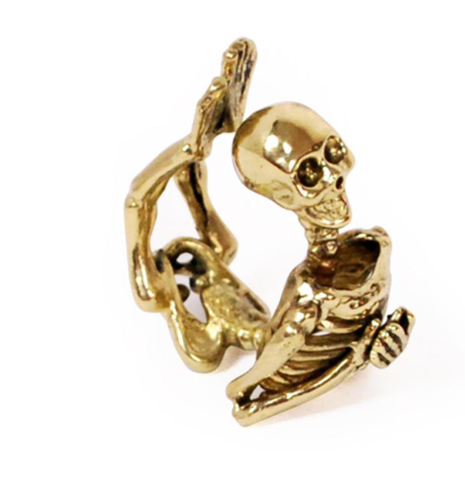 Skeleton Brass Ring