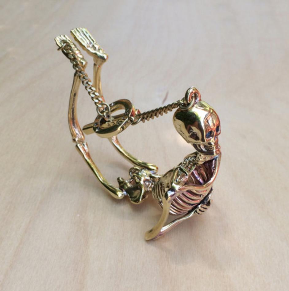 Skeleton Brass Bracelet