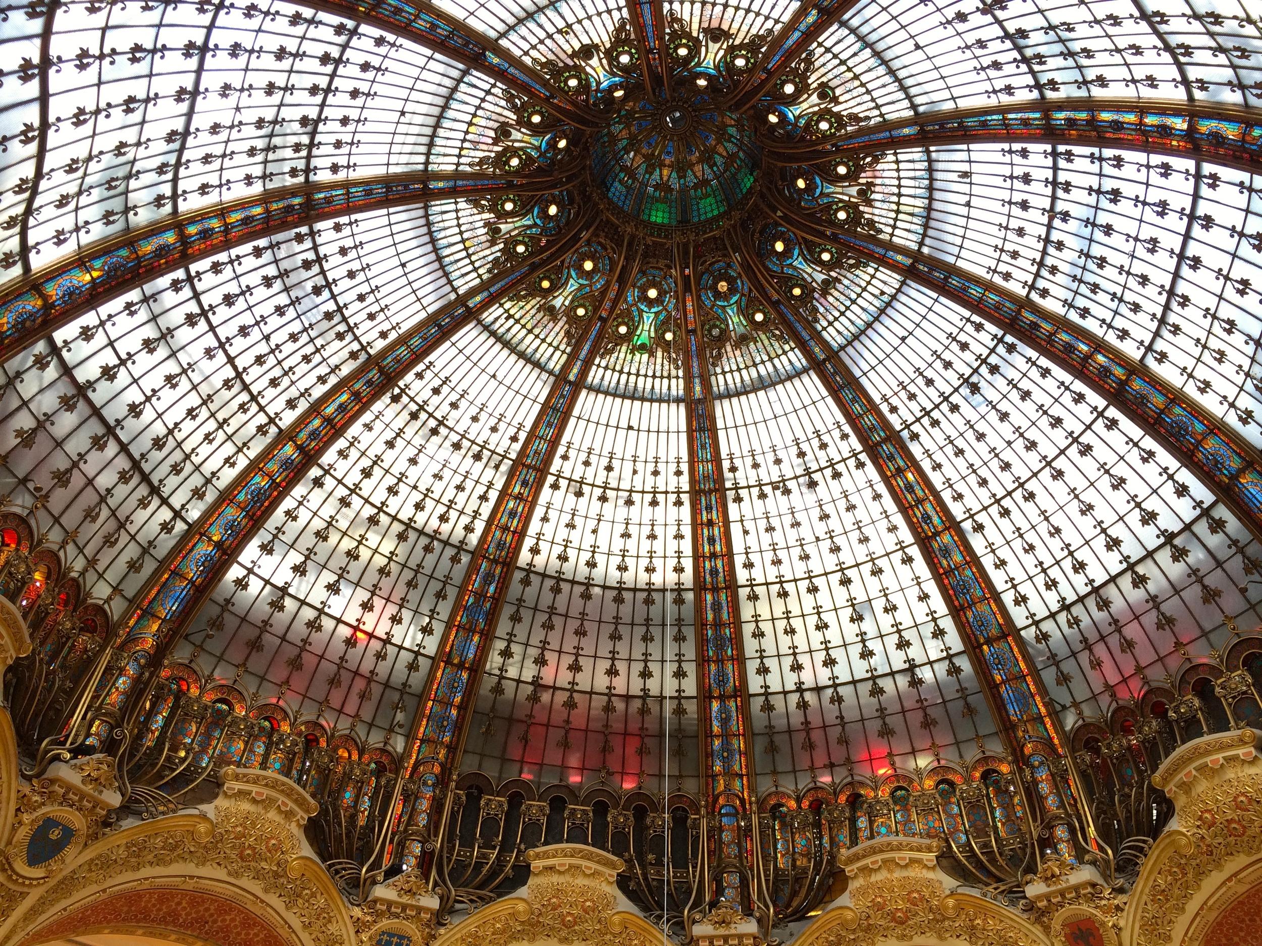 The phenomenal atrium at Galeries Lafayette department store.
