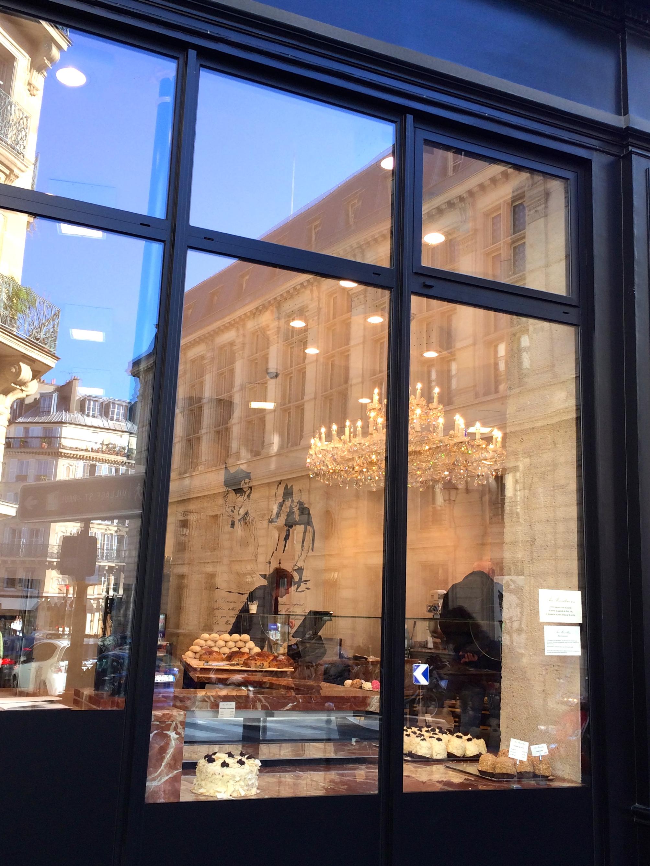 peeking inside a bakery in the Marais