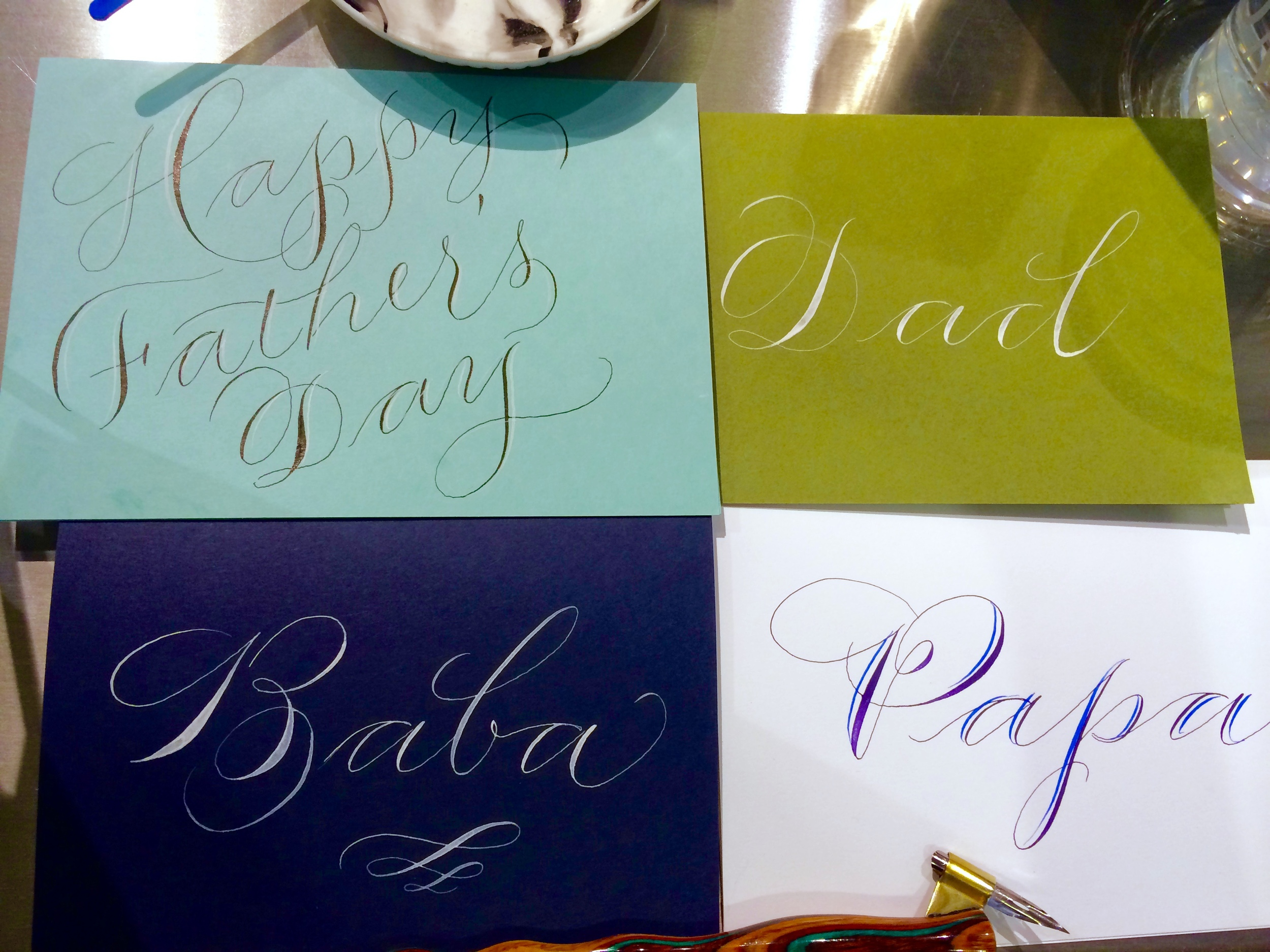 Some cards made by request yesterday. I love getting to write in so many different languages!