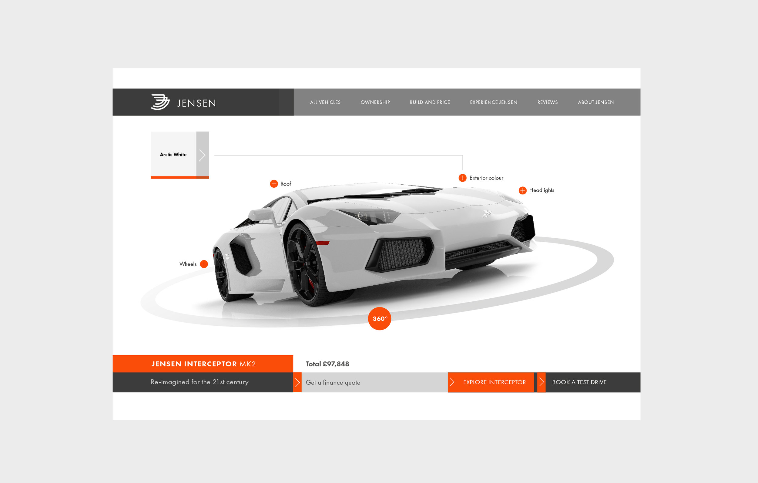 car website design and branding