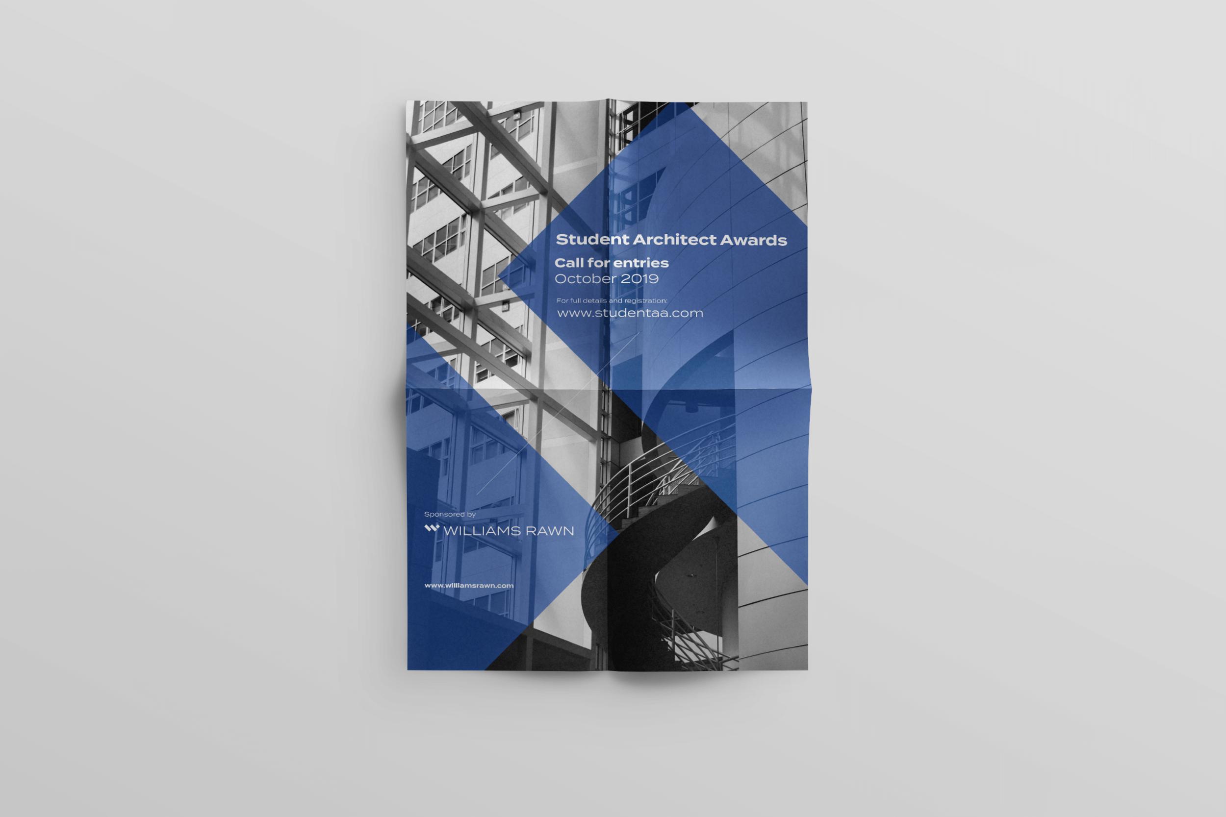 Sponsored poster for Student Architect Awards